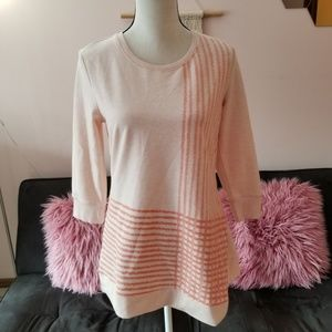 H By Halston Pink Coral 3/4 Sleeve Top Size XS